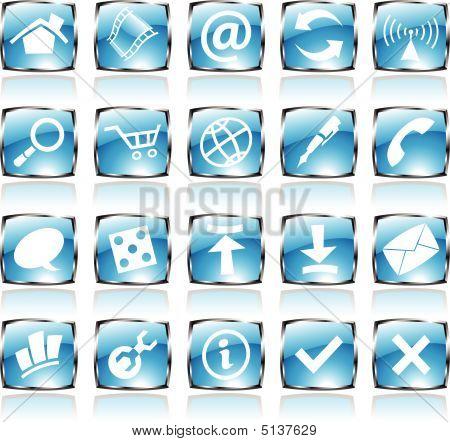 Blue Shiny Icons