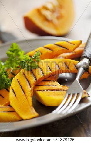 grilled slices of hokkaido pumpkin