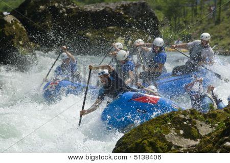 Banja Luka, Republika Srpska, Bosnia - May 18: World Rafting Champs Banja Luka 2009 - First Day Trai
