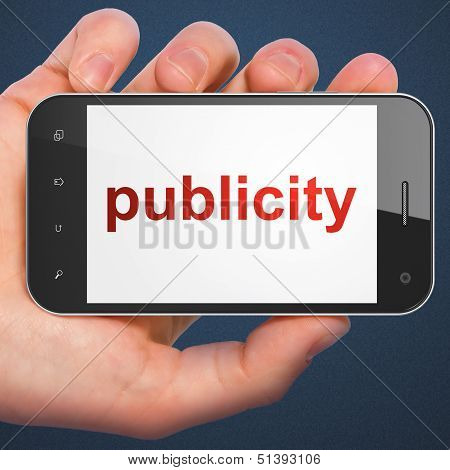 Marketing concept: smartphone Publicity
