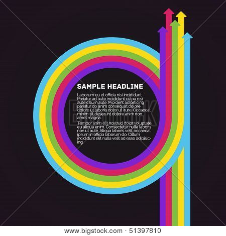 Infographics template. Colorful circle arrows