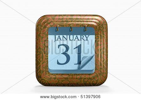 Calendar, January Month