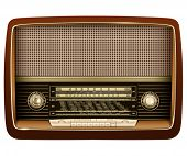 Retro radio, realistic vector illustration.