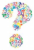 stock photo of query  - Editable vector question mark formed from many question marks - JPG
