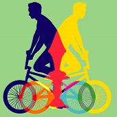 Bicycle Colorfull Vector.eps