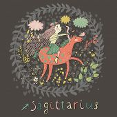stock photo of sagittarius  - Cute zodiac sign  - JPG