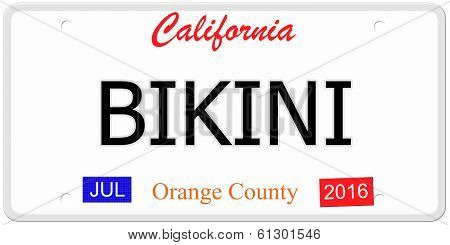 Bikini License Plate