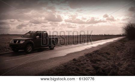 4x4 vehicle on road
