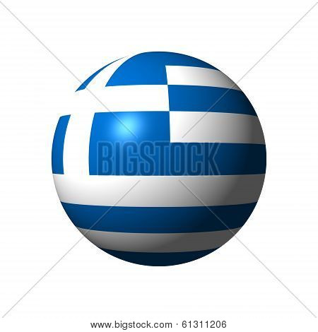 Sphere with flag of Greece