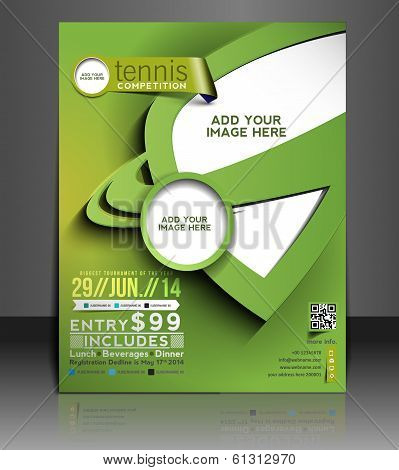 Tennis Competition Flyer Design