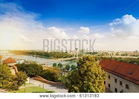 Bratislava And Danube Panorama