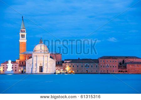 Chiesa Di San Giorgio Maggiore In The Evening