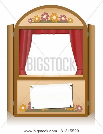 Punch and Judy Booth Brown