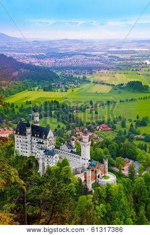 Neuschwanstein And Vilages