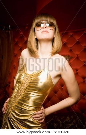 Fashionable Young Woman In Glasses