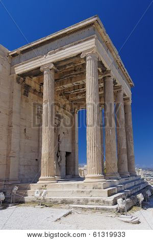 north entrance of erechtheion temple