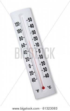 white thermometer
