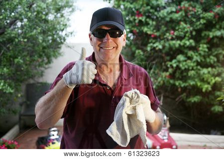 A Professional Window Cleaner uses a cloth towel to detail his freshly washed windows to make them Squeaky Clean. Professional Window Cleaners are in demand around the world. Window Cleaning is Fun!