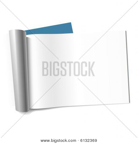 Blank page of magazine. Vector illustration.