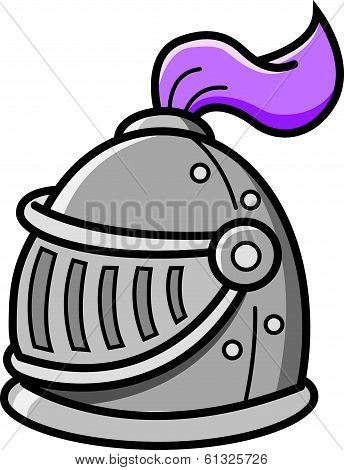 Cartoon knight's helmet