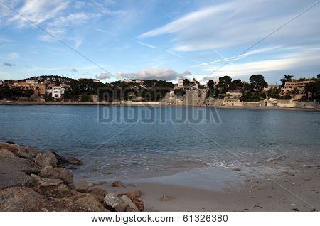 Beach Of Renecro In Bandol In French Riviera, France