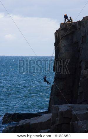 Ocean Cliff Climbing