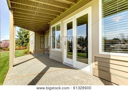Backyard Walkout Deck