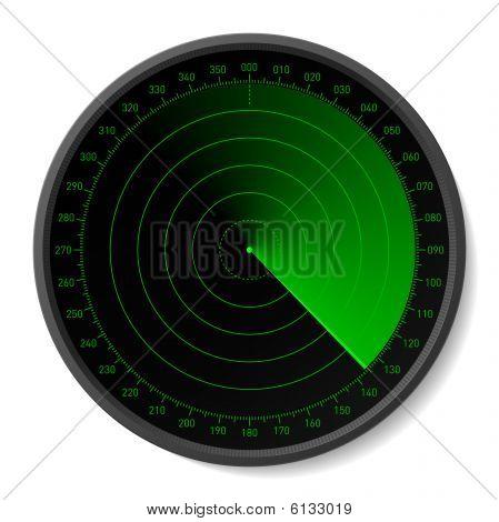 Radar. Vektor-Illustration.