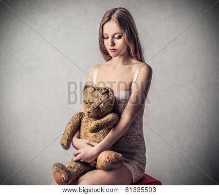 girl with teddybear