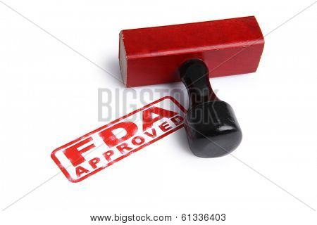 FDA APPROVED stamp and rubber stamper