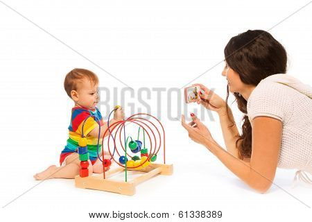 Photograph Baby Playing