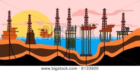 Sea Oil Production