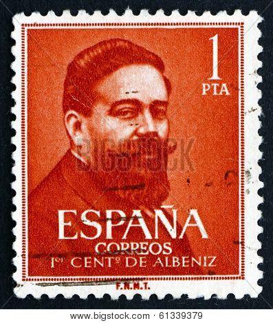 Postage Stamp Spain 1960 Isaac Albeniz, Spanish Composer