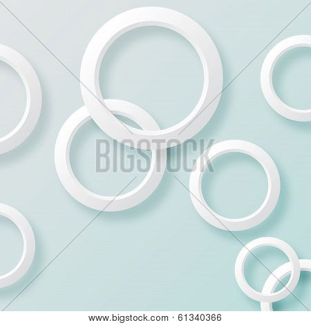 White circles background