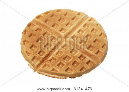 Belgian waffle on white
