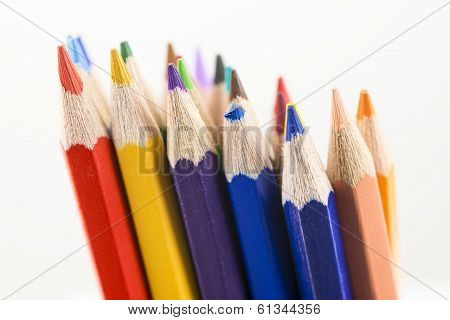 Group Of Colorful Pencil Crayons