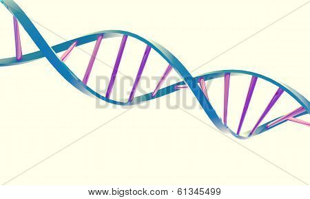 Dna Double Helix On A White Background