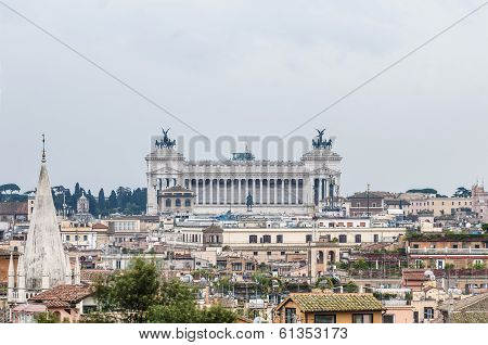 National Monument To Victor Emmanuel In Rome, Italy.
