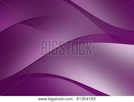 Abstract Curve And Line Purple Background