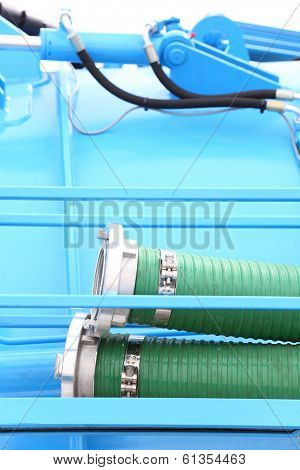 Green Plastic Hose Tube Outdoor