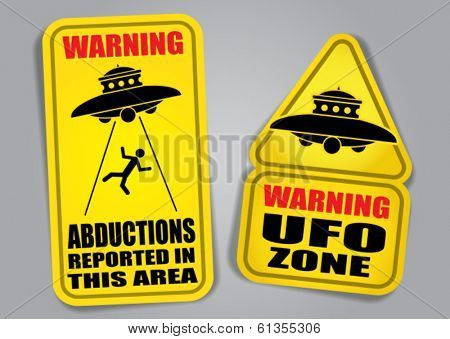 Warning UFO Signs