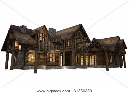 Log House Isolated