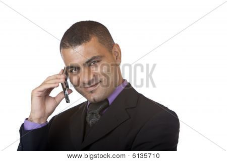 Business Man Makes Telephone Call