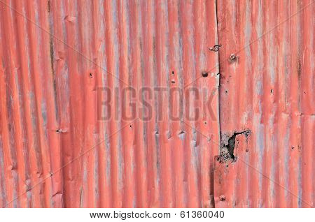 Dirty And Rusted Galvanized Iron Roof