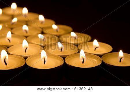 Many Tea Light Candles