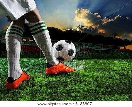 футбольные картинки через себя