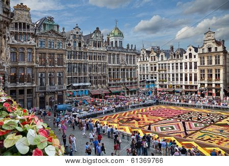 Flower Carpet In Grand Place Of Brussels