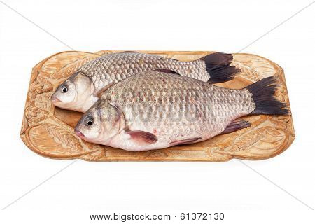 Crucian On A Plate