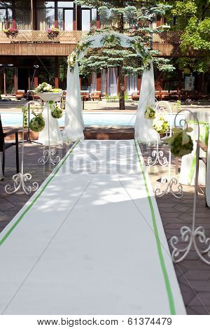 Wedding Arch With Flowers Decoration