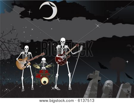 Music poster;Skeleton Band